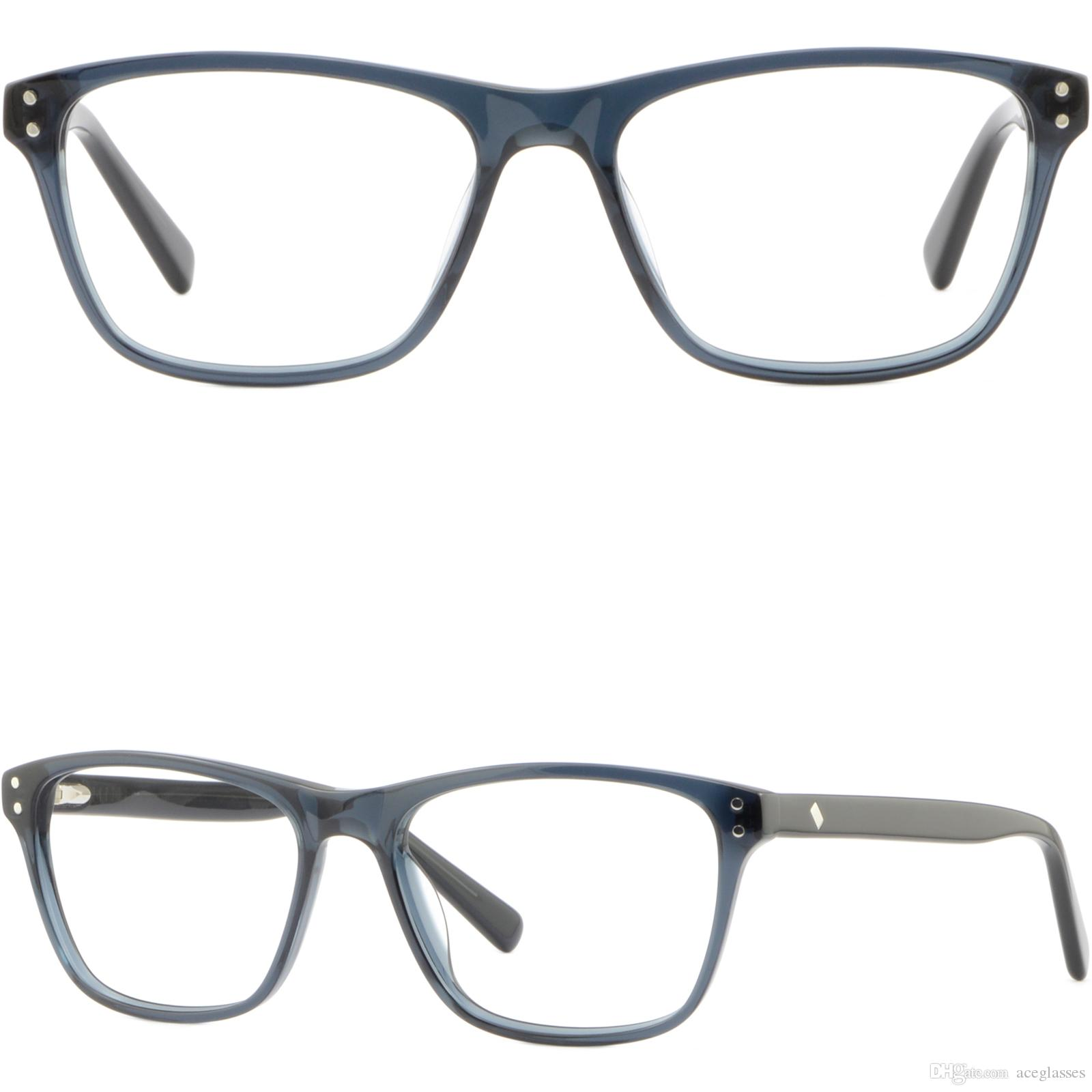 ed1d7f3bd7b Men Women Plastic Frame Spring Hinges Light Acetate Rectangle Eyeglasses  Glasses Glasses Frame Online with  28.69 Piece on Aceglasses s Store