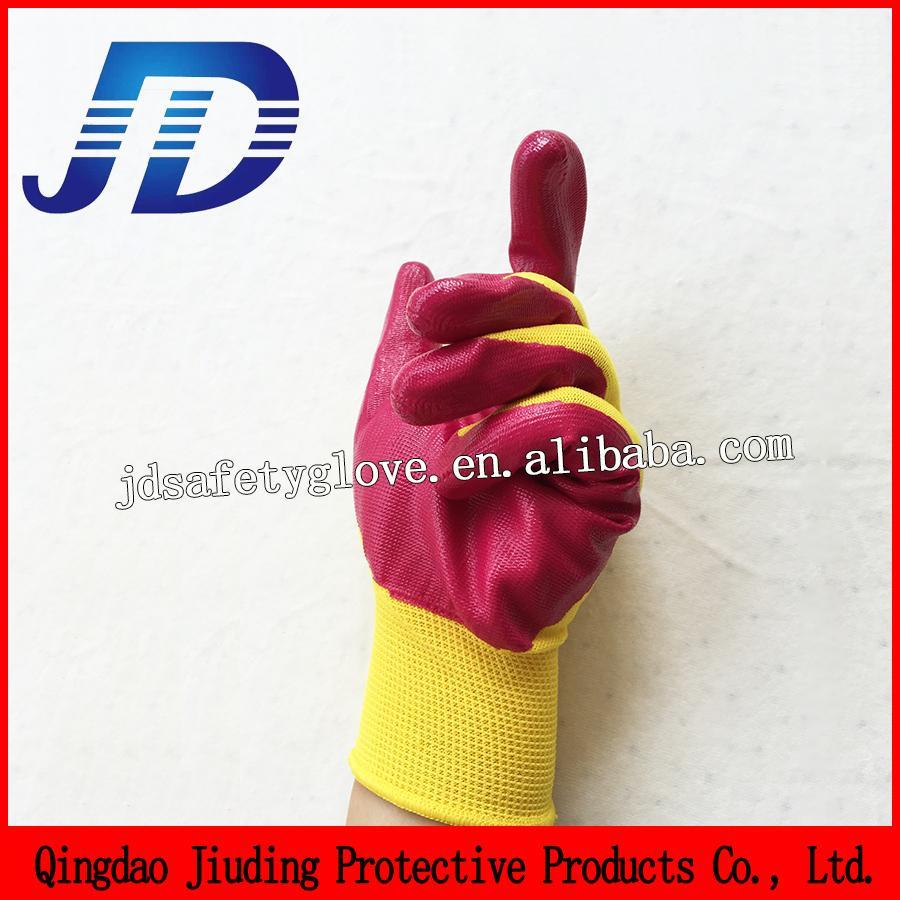 Ручные перчатки Производители в Китае, Бесплатный образец, без пробы, 13 калибра вязаные нейлоновые нитриловые перчатки / рабочая нитриловая перчатка / перчатка безопасности