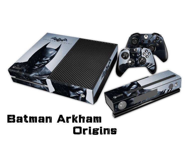 Batman Arkham Origins Protective Decal Skin/Stickers For xbox one Console+ 2 Controllers + Kinect Skin
