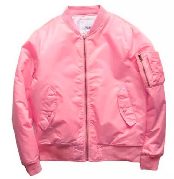 2016 Ma1 Bomber Jacket Pink Men And Women Tour Pilot Jackets ...