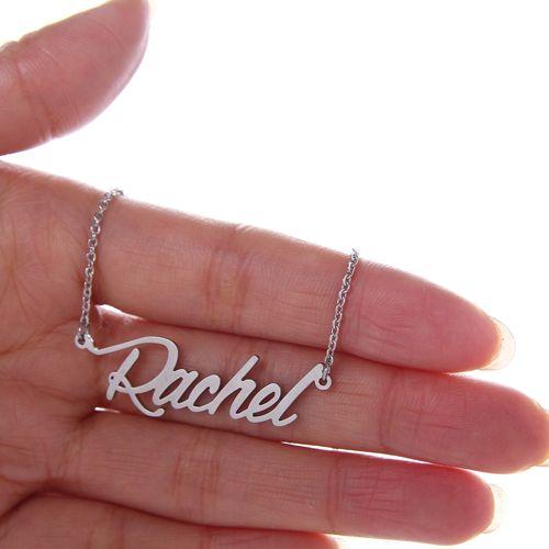 Kundenspezifische Frauen 18 Karat vergoldet personalisierter Name Halskette