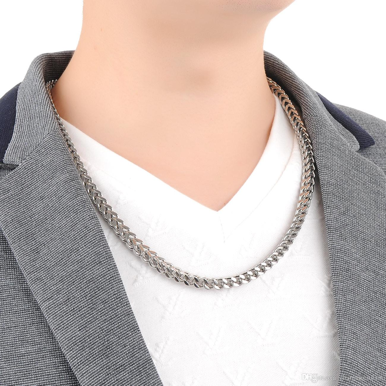 21.6'' 6MM WIDE South American Men fave 316L Stainless steel Silver figaro Chain Link Necklace in Men Thanksgiving Day / XMAS Jewelry Gifts
