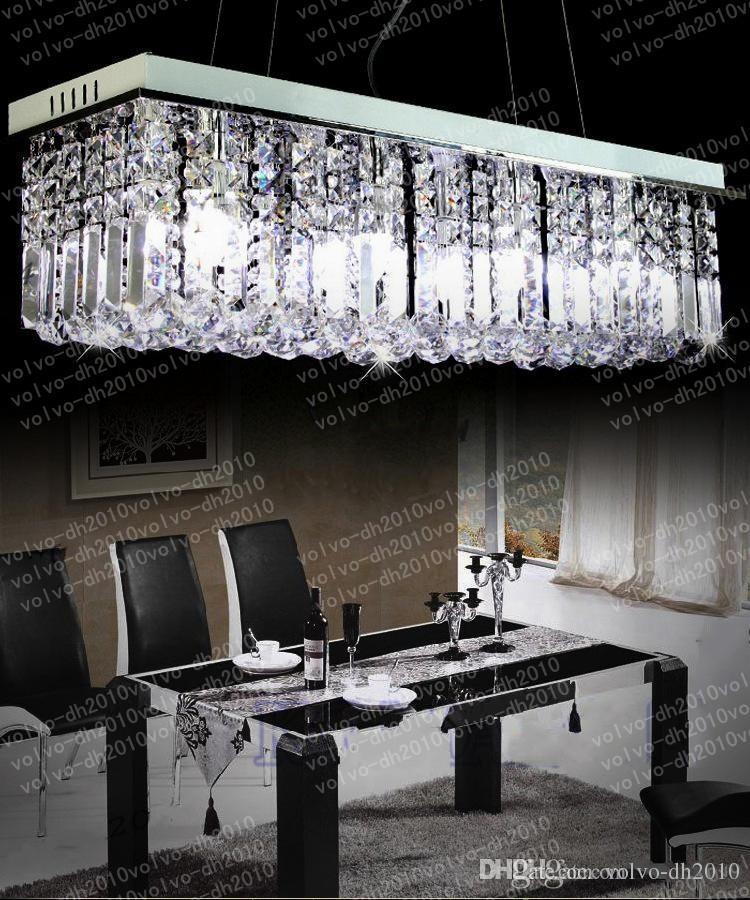 길이 100cm / 80cm 샹들리에 조명 천정 조명 현대 크리스탈 LED 펜던트 조명 무료 배송 LLFA1086