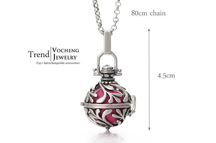 Baby Chime Necklace Copper Metal Pregnancy Ball Pendant with Stainless Steel Chain Vocheng VA-029