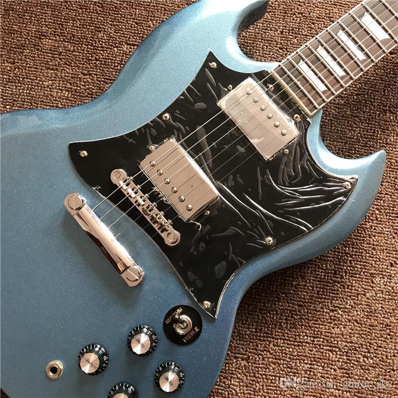 Neue hochwertige E-Gitarre in der metallischen blauen Farbe mit Chrom-Hardware, kann ein heißer Verkauf von Guitarra sein
