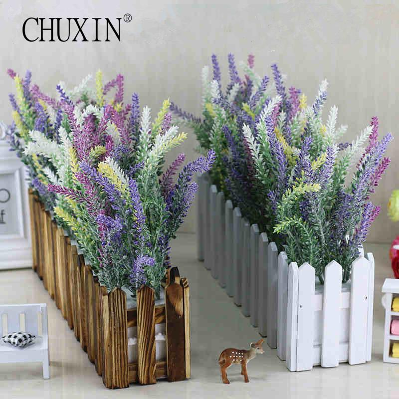 2018 17 kinds artificial lavender flower with wooden fence vase set 2018 17 kinds artificial lavender flower with wooden fence vase set silk flowers home kindergarten window decoration birthday gift from home1688 mightylinksfo