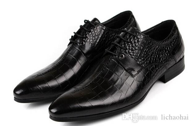 New arrival 2015 Genuine Leather american European Style Oxfords Shoes Casual Men dress Shoes male wedding shoes oxford platforms