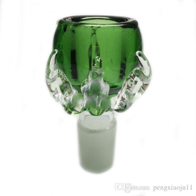 5 STÜCKE Dicke Drachenklaue Männchen Gelenk 14mm 18mm Glasschüsseln für Bong Glas Bongs Wasserleitungen Glas Öl Rig Bongs