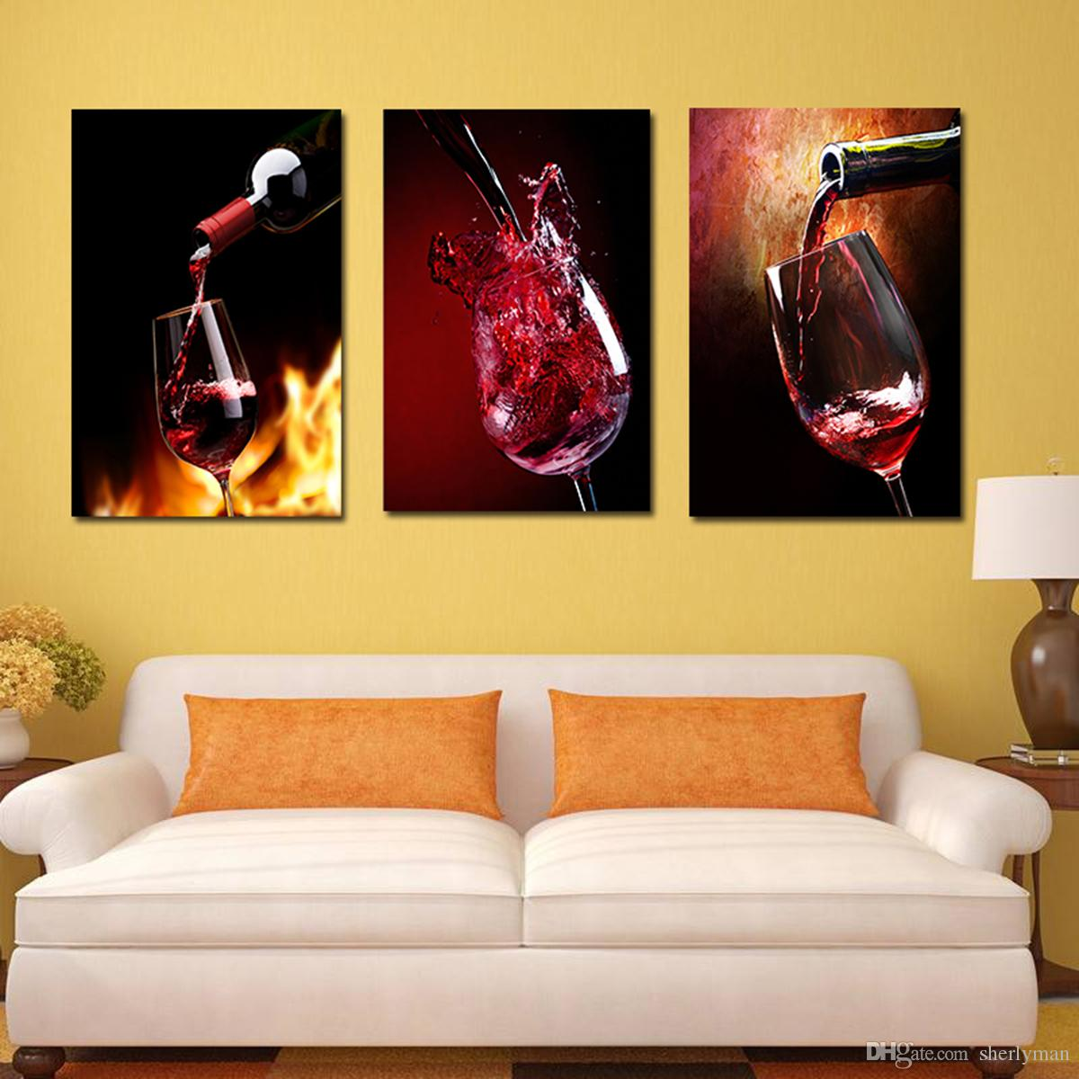 2018 Triple Play Red Wine Glass Decorative Painting Modern Simple ...