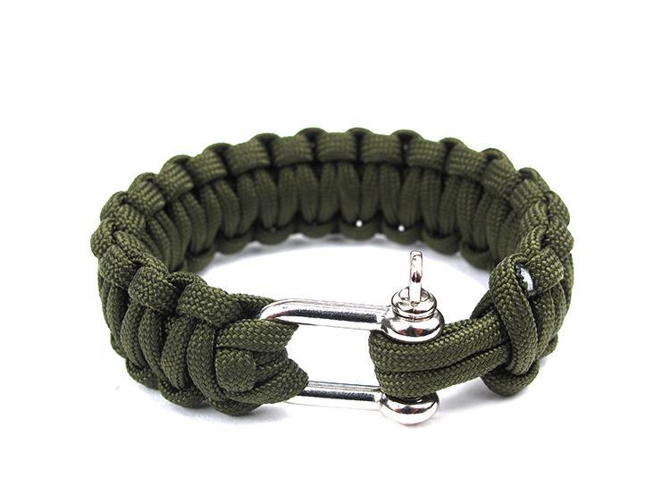 10 ADET Cobra PARACORD BILEZIKLER KITI Askeri Acil Survival Bilezik Charm Bilezikler Unisex U toka 3 Renkler
