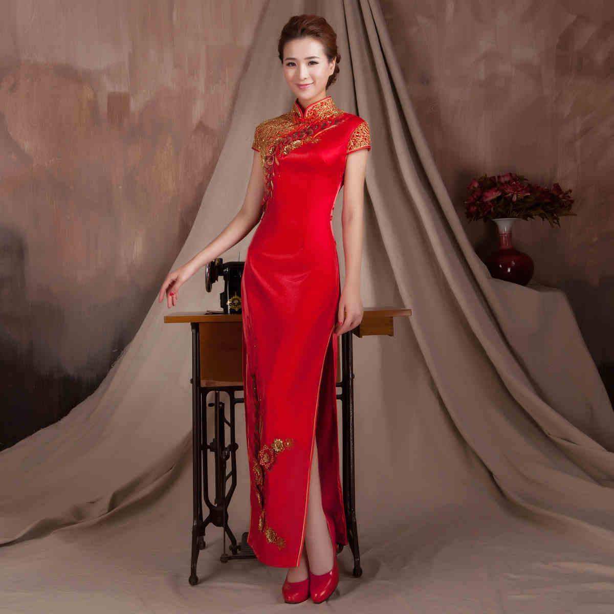 Großhandel Brautkleid Chinesisches Cheongsam Brautkleid Für Frauen ...