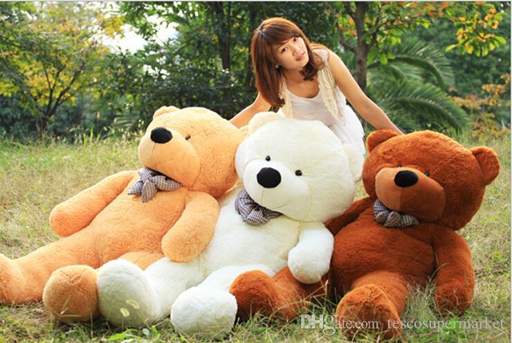 "6 FEET TEDDY BEAR STUFFED LIGHT BROWN GIANT JUMBO 71"" size:160cm"