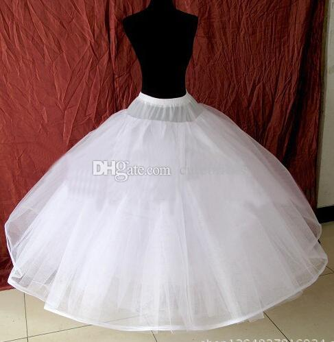 New Arrival White 8 Layers Hoopless Ball Gown Wedding Petticoat