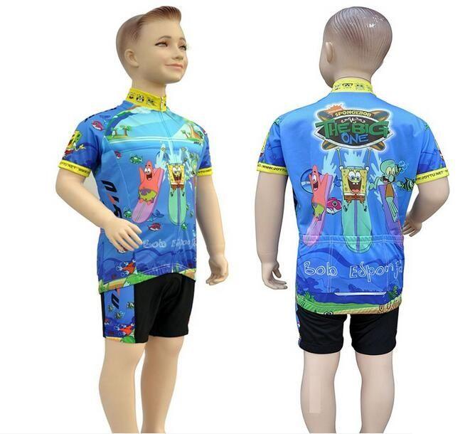 1fb6b142c Children Cute Cartoon Cycling Clothing Short Sleeve Set Good Quality Farbic  Boys And Girls Bike Wear Kid Sports Jersey S XXL Biker T Shirts Sports  Jersey ...