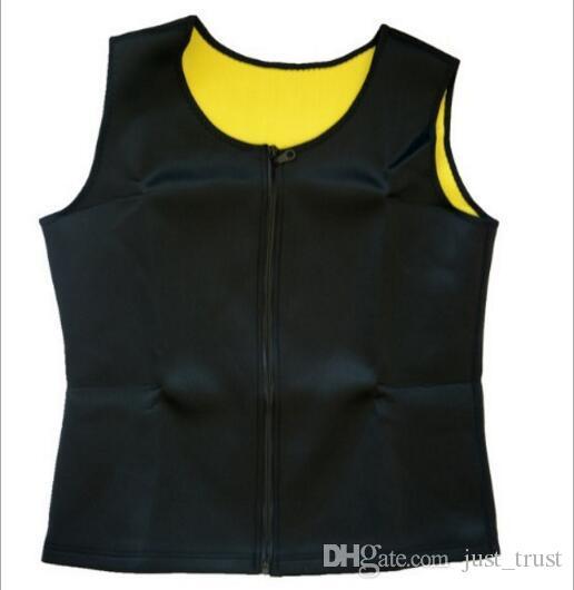 Plus la taille XS ~ 6XL Hommes Ultra Sweat Cincher bodyshapers zipper gilet shaper corset Gilet Cincher Taille Formation Latex En Caoutchouc Bodyshaper