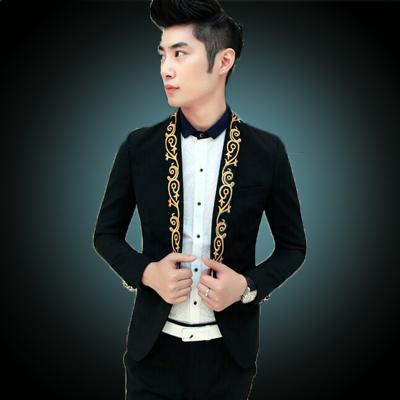 Discount 2015 Prom Black Suit White Blazer Men Gold Suits Prom ...