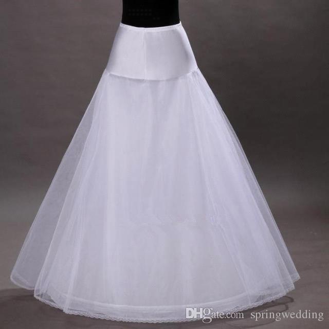 in Stock 1-hoop 2-layer Tulle Aline Petticoat Bridal Wedding Petticoat Underskirt Crinolines for Wedding Dress CPA202