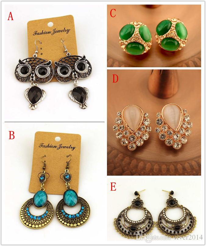 2015 Vintage Cheap Different Kinds Of Earrings Bridal Jewelry ...