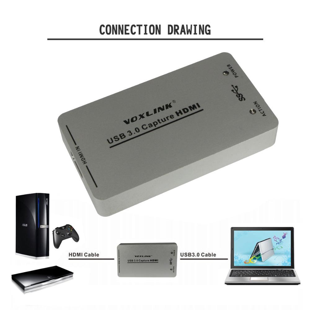 1080p 60fps Uvc Usb 30 Hdmi Capture Dongle Usb20 Card 2 0 To Rj45 Wiring Diagram Box For Windows Linux Osx System Xbox Ps4 Kabel From Goodgo