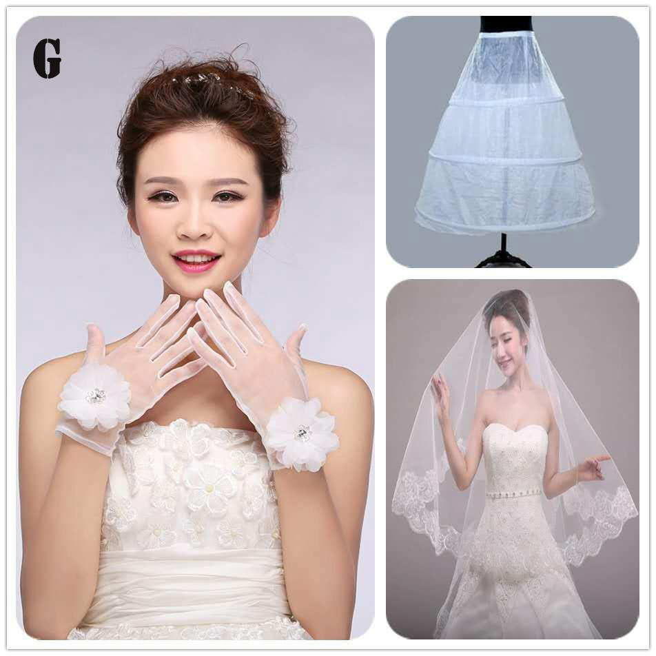 wholesale wholesale bridal veils wedding dress white lace headdress top grade wedding dress red three-piece package cheapest price