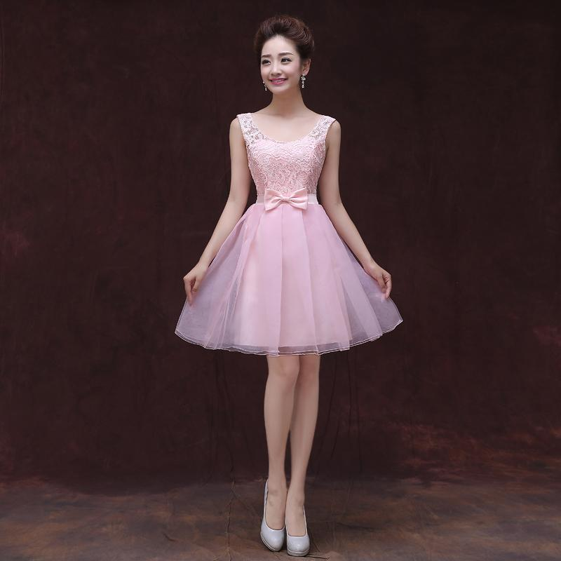New Pink Sky Blue Violet Short Ball Gown Scoop Neck Lace Tulle ...