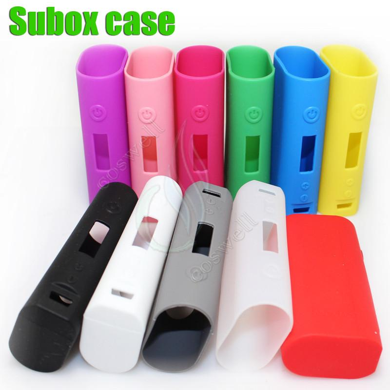 Top Subox mini box mods Silicone Case Cases Bag Colorful Rubber Sleeve protective cover silica gel Skin for kanger kangertech 50w Kbox MOD