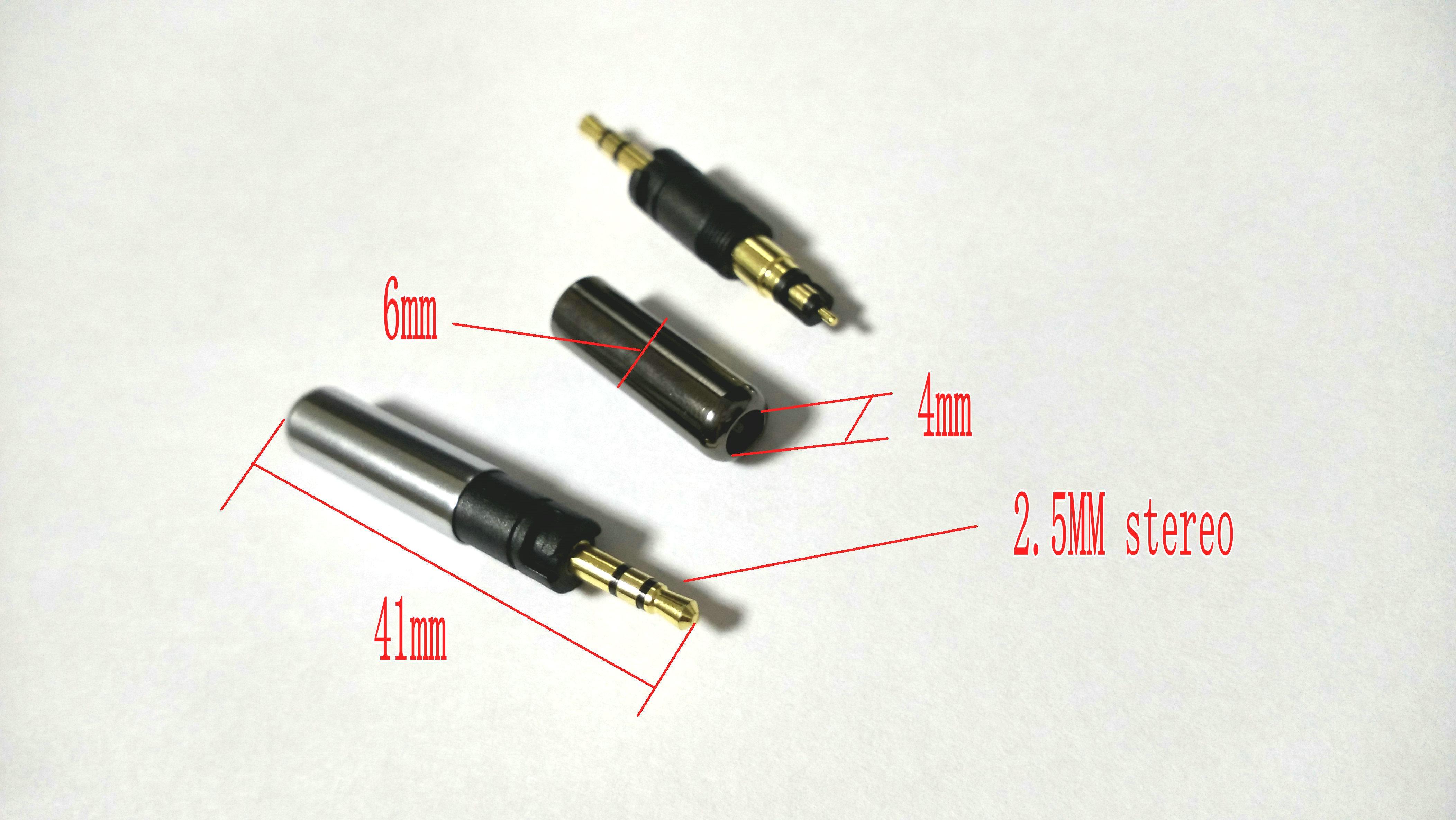 mini 2.5mm Stereo Repair Headphone Plug Cable Solder DIY connector