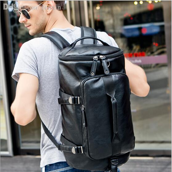 Wholesale-Euoprean Style Men's Leather Gym Bag Sports Bags Vintage ... 1ef2bff14a37