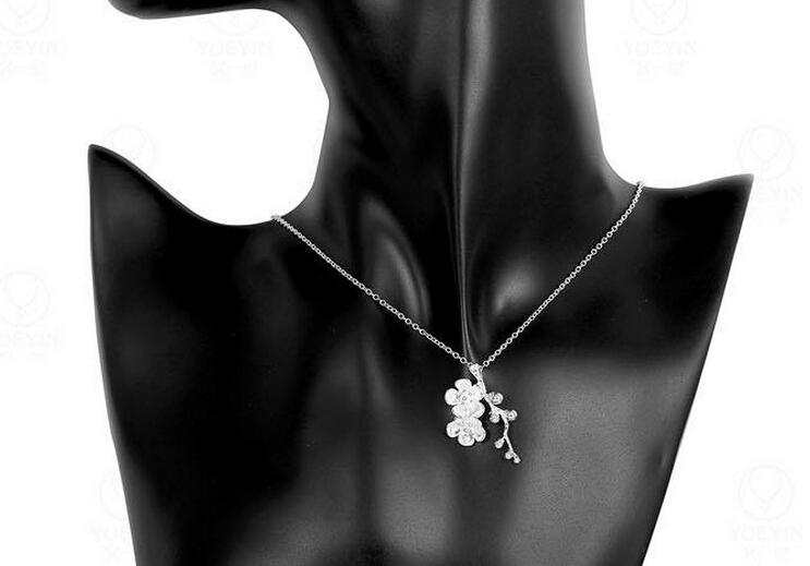 10%off Fashion jewelry 925 silver plum blossom pendant necklace Top quality