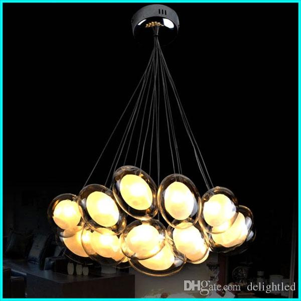 LED Clear Glass Pendant Light Lights Egg L& Chandeliers Lighting Fixtures with Clear L&shape And Sivler Canopy Ac110v Or 220v CE FCC UL Crystal ...  sc 1 st  DHgate.com & LED Clear Glass Pendant Light Lights Egg Lamp Chandeliers Lighting ...