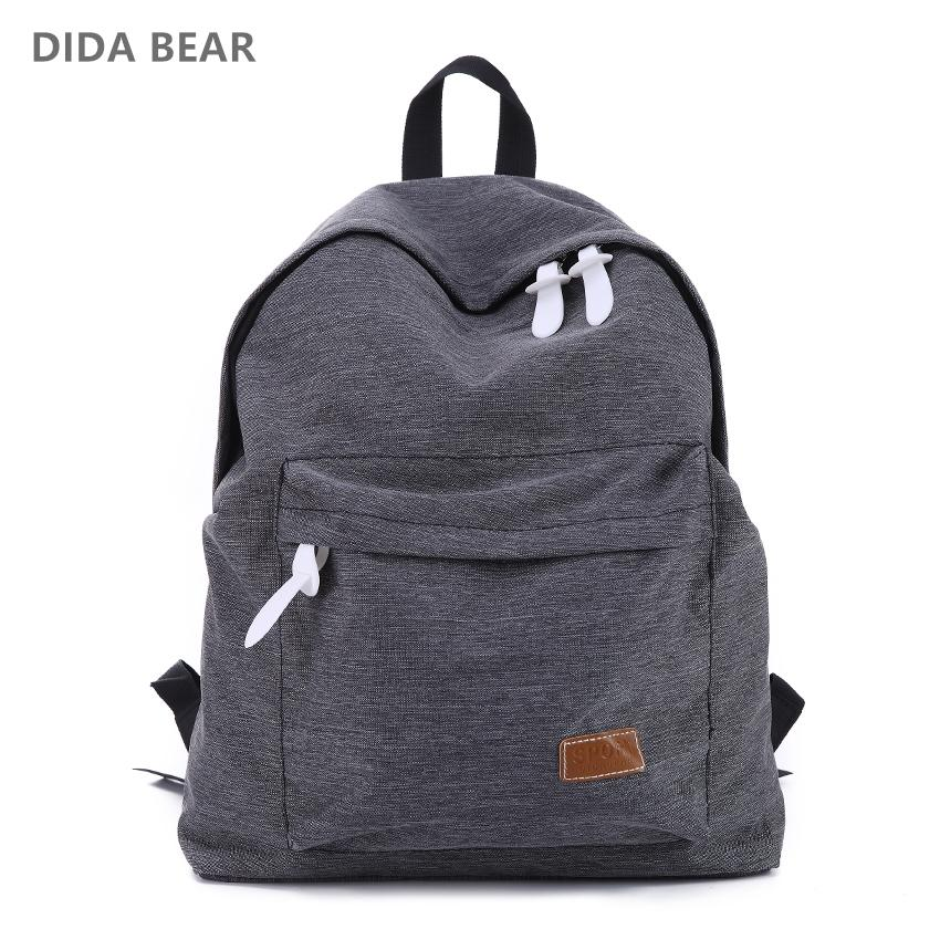 a7c0a26d6261 Canvas Men Women Backpack College High Middle School Bags For Teenager Boy  Girls Laptop Travel Backpacks Mochila Rucksacks Swiss Backpack Laptop  Rucksack ...