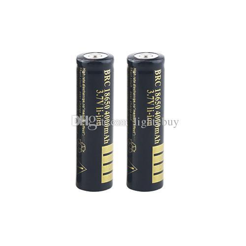 2 개의 18650 4000 mAh 리튬 이온 건전지 휴대용 18650 충전기 + 차 충전기 + 단 하나 18650 건전지를위한 AC 접합기