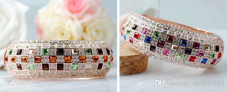 Pulsera de la reina de Corea del Sur venta caliente 18KGP reina de cristal austriaco pulseras para mujeres pulseras de la boda joyería BN-00144