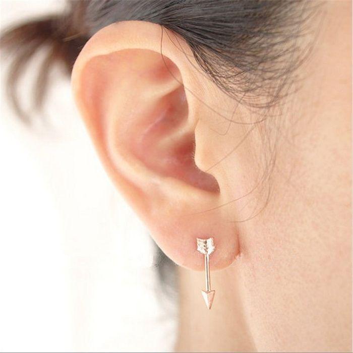 Arrows Ear Stud Moda para As Mulheres 18 K Banhado A Ouro Ear Studs Nova Chegada 2016 para Sale23