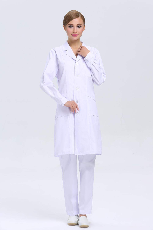 2015 OEM Lab Coat Female Doctor Coat White Coat Medical Work Wear ...