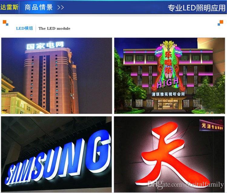 500X retroiluminação LED Módulo Para Billboard LED lâmpada de luz 5050 SMD 6 LEDs 120 Lumen verde / vermelho / azul / Warm / Branco Waterproof IP65 DC 12V por DHL