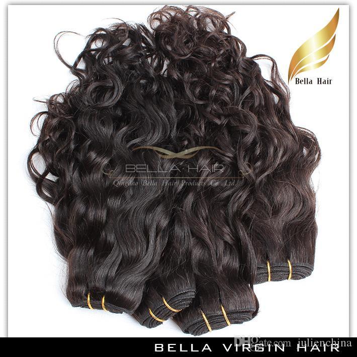 Brazilian Hair Weave Unprocessed Natural Color Natural Wave Wavy Hair Extention Double Weft 8~30pouces livraison gratuit Bella Hair