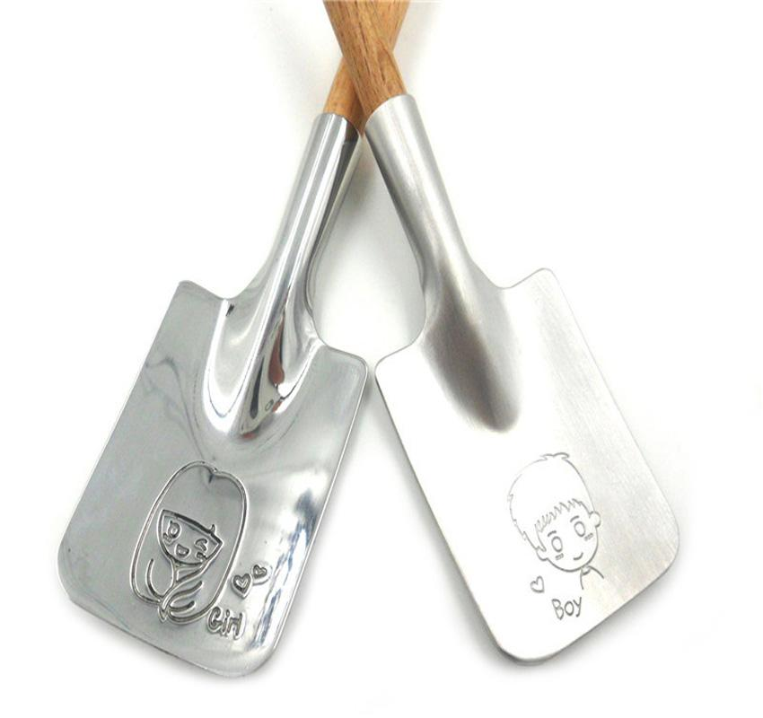Couple en acier inoxydable cuillère carrée vaisselle vaisselle thé cuillère à café cuillères à café de crème glacée couverts de cuisine outil