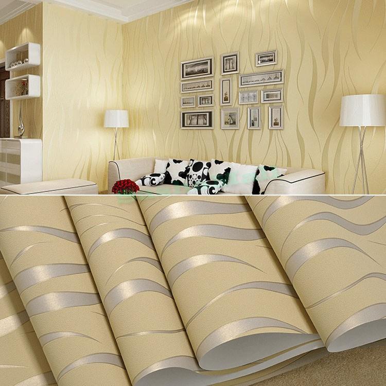 Großhandel New European Style 10m Ausgangswand Dekoration Dinning Wohnzimmer  Wallpaper Für Wände 3d Welle Beflockung Papierrollenwallpaper Us50 Von  Lin3939, ...