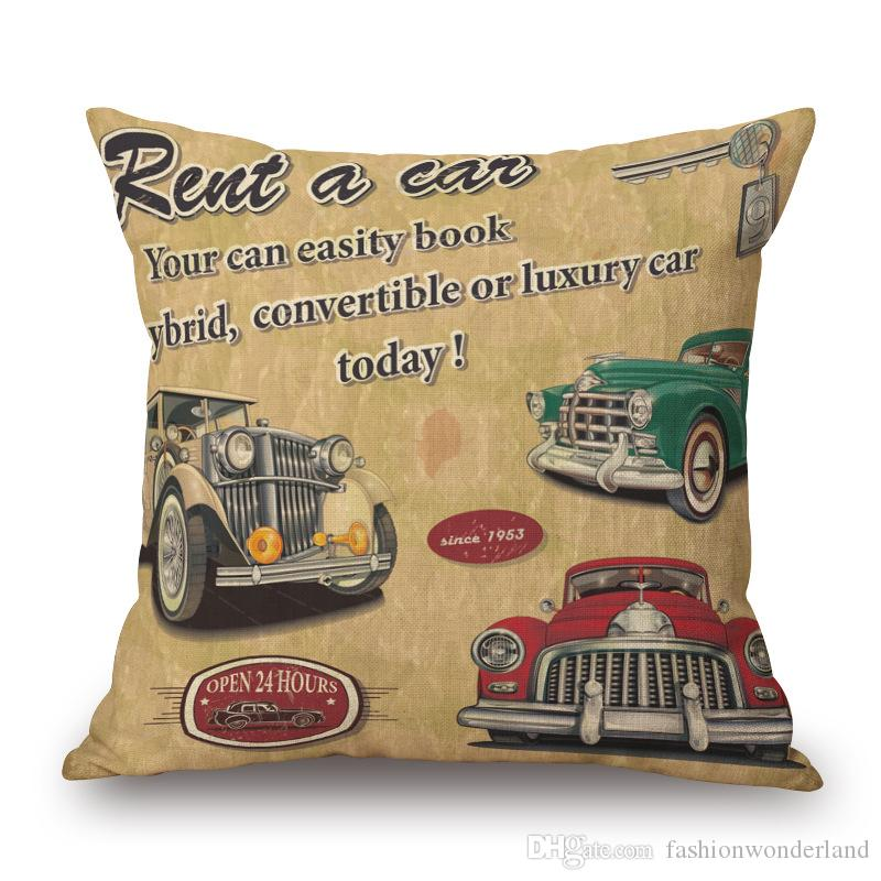 London Paris New York Cushion Covers Thick Linen Cotton Pillow Cases pillow covers 45X45cm Sofa Chair Seat Decoration