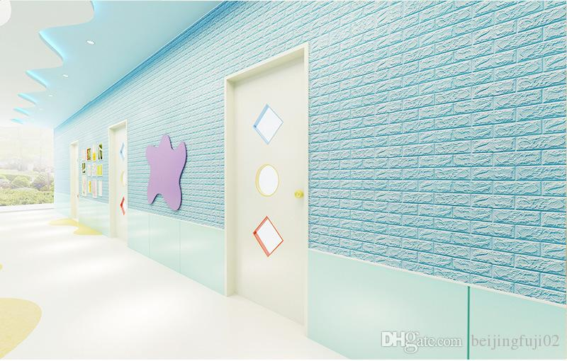 70 cm * 77 cm Modern 3D Tasarım Duvar Kağıdı Tuğla Desen Arka Plan Duvar Kağıdı Ev Yatak Odası Oturma Odası Duvar Kapsayan Dekor