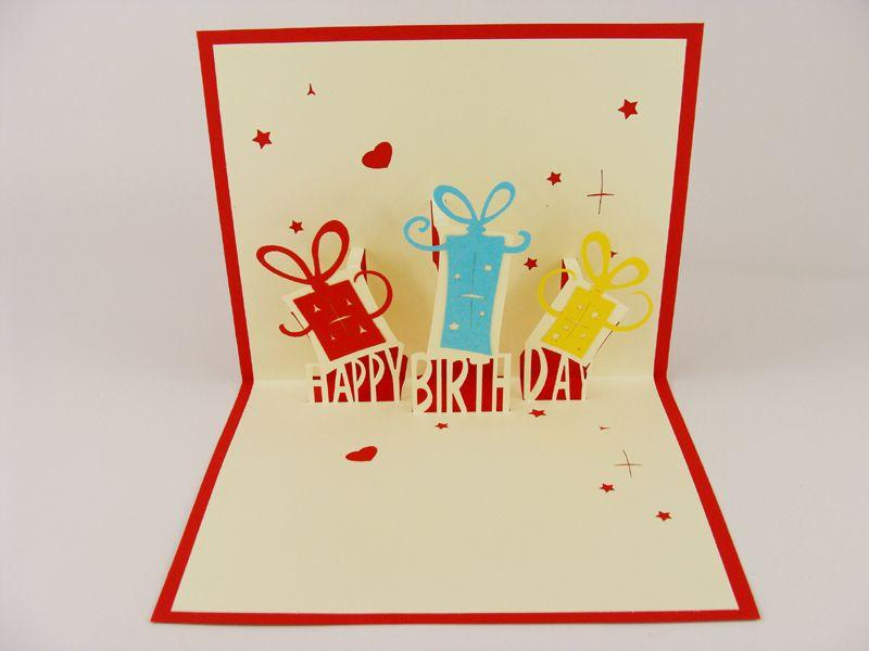 Creative 3d Stereoscopic Carved Handmade Paper Greeting Cards
