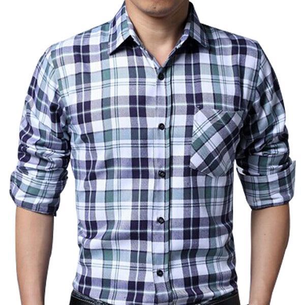 Best 2015 Brand New Shirts Mens Camisa Xadrez Check Shirts Design ...