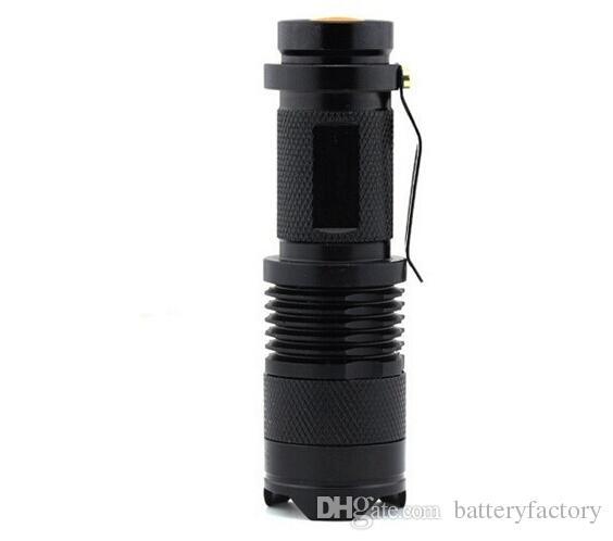 Gratis Eppacket, 2015 Ny UV 395nm Mini LED ficklampa Torch 7W 300LM Lila Färg Justerbar Fokus Zoom Lampan