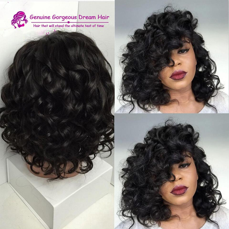 Short Curly Human Hair Wigs Full Lace wig Lace Front Short Curly Wigs Human Hair Short Bob Wigs For Black Women