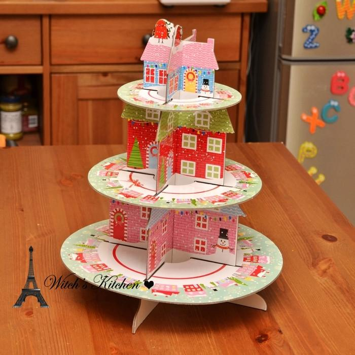 Christmas house decoration cupcake stand cake plate stands