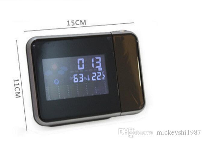 أدى الجدول الإلكترونية ساعة توقعات الطقس الإسقاط ساعة مكتب الساعات الرقمية المنبه الإبداعية غفوة الجدول الجدول الساعات