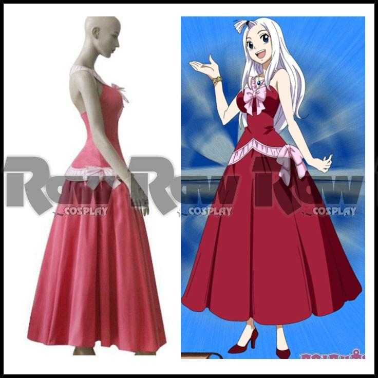 Anime Fairy Tail Mirajane Strauss Sexy Lolita Fashion Pink Party Dresses For Cosplay Women Summer Dress Costumes Raw0403 Adult Halloween