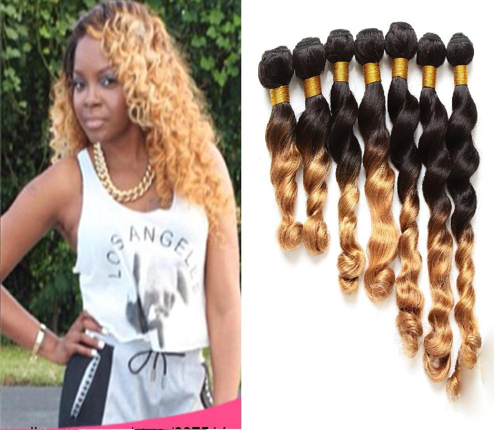 Brazilian Ombre Hair Extensions Loose Wave 1b27 Ombre Hair Weave