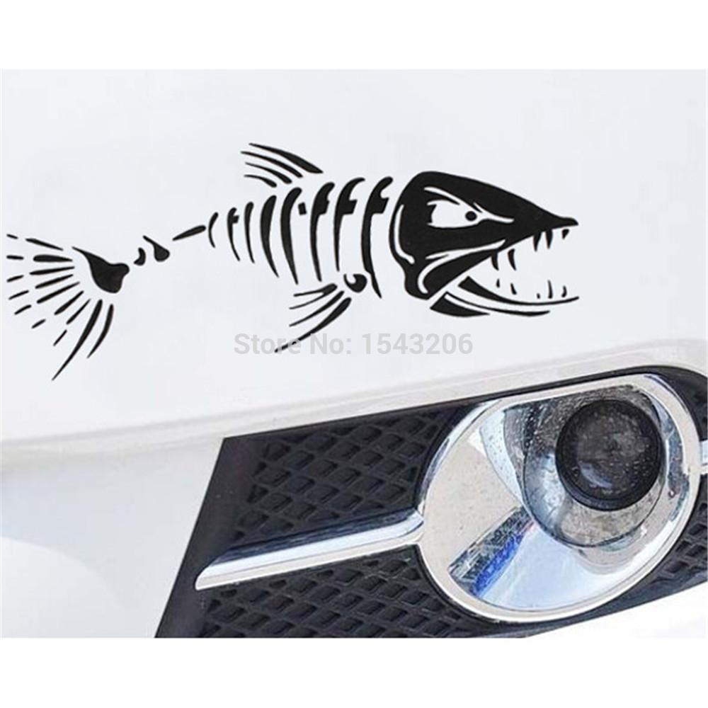 2018 Car Boat Window Skeleton Angry Shark Mad Fish Fishing